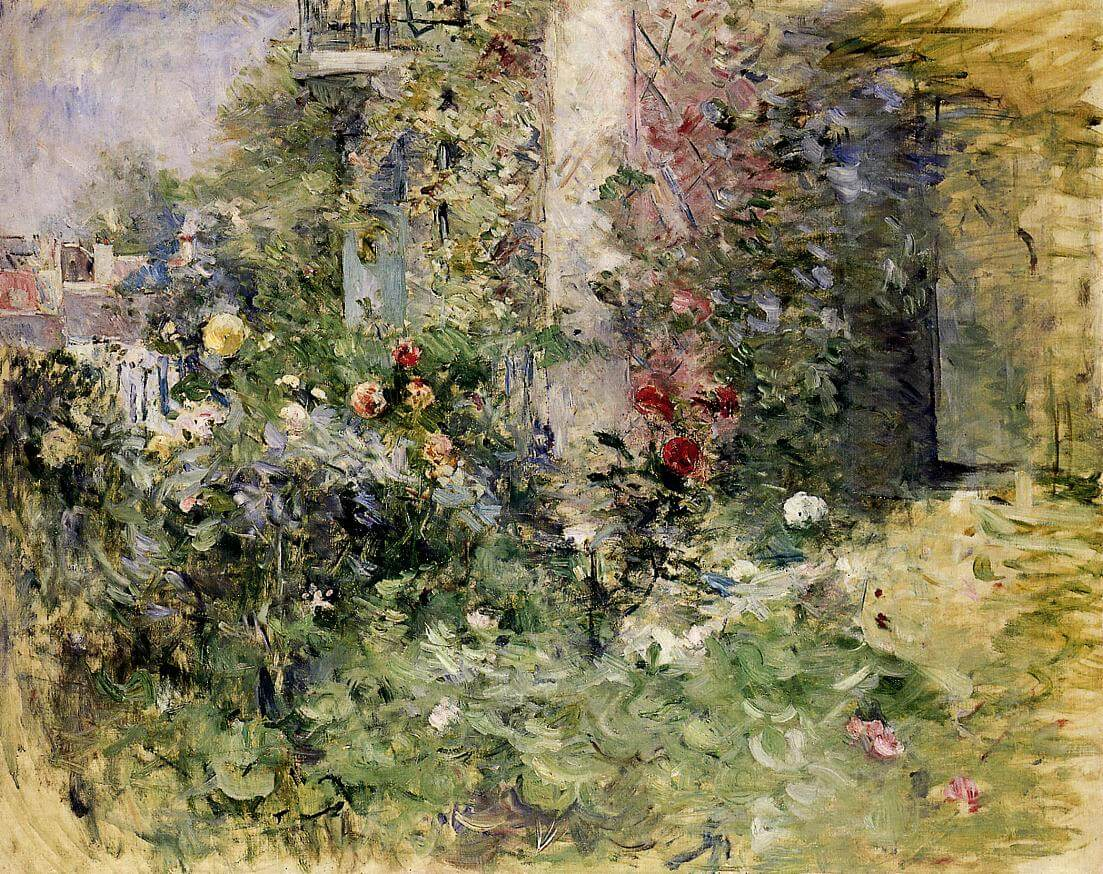 """""""The Garden at Bougival"""" by Berthe Morisot"""